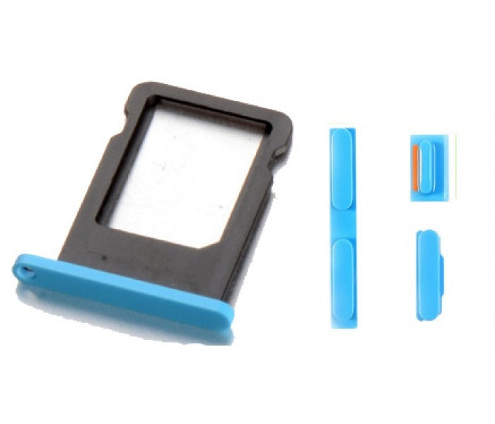 Blue Back Housing Mid Frame Assembly iPhone 5C A1456 A1507 A1516 A1529 A1532 Pic8