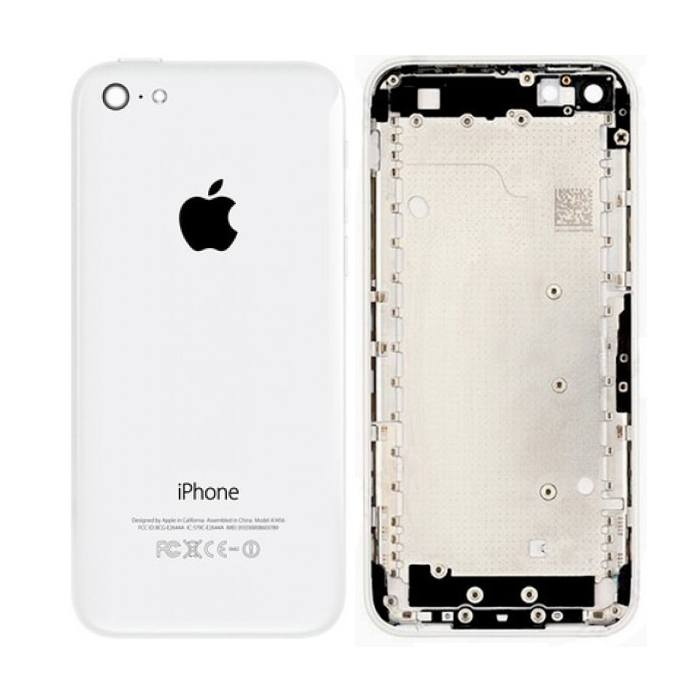 White Back Housing Mid Frame Assembly iPhone 5C A1456 A1507 A1516 A1529 A1532 Pic0