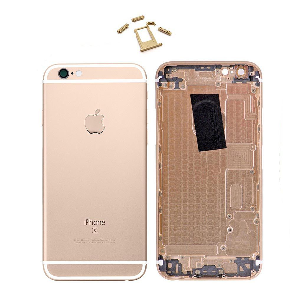 Gold Replacement Back Housing Mid Frame Assembly for iPhone 6S A1633 A1688 A1700 Pic0