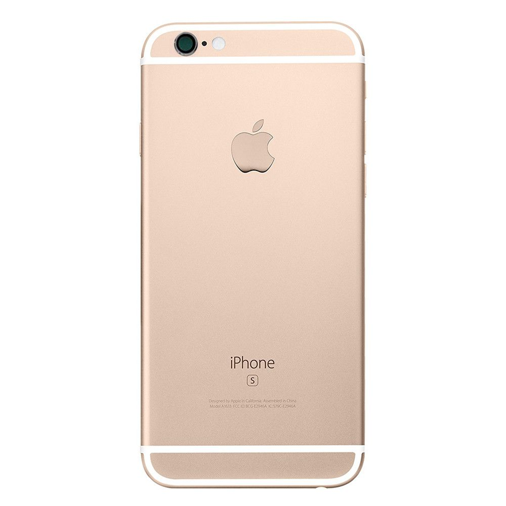 Gold Back Housing Mid Frame with Cables, Parts for iPhone 6S A1633 A1688 A1700 Pic2