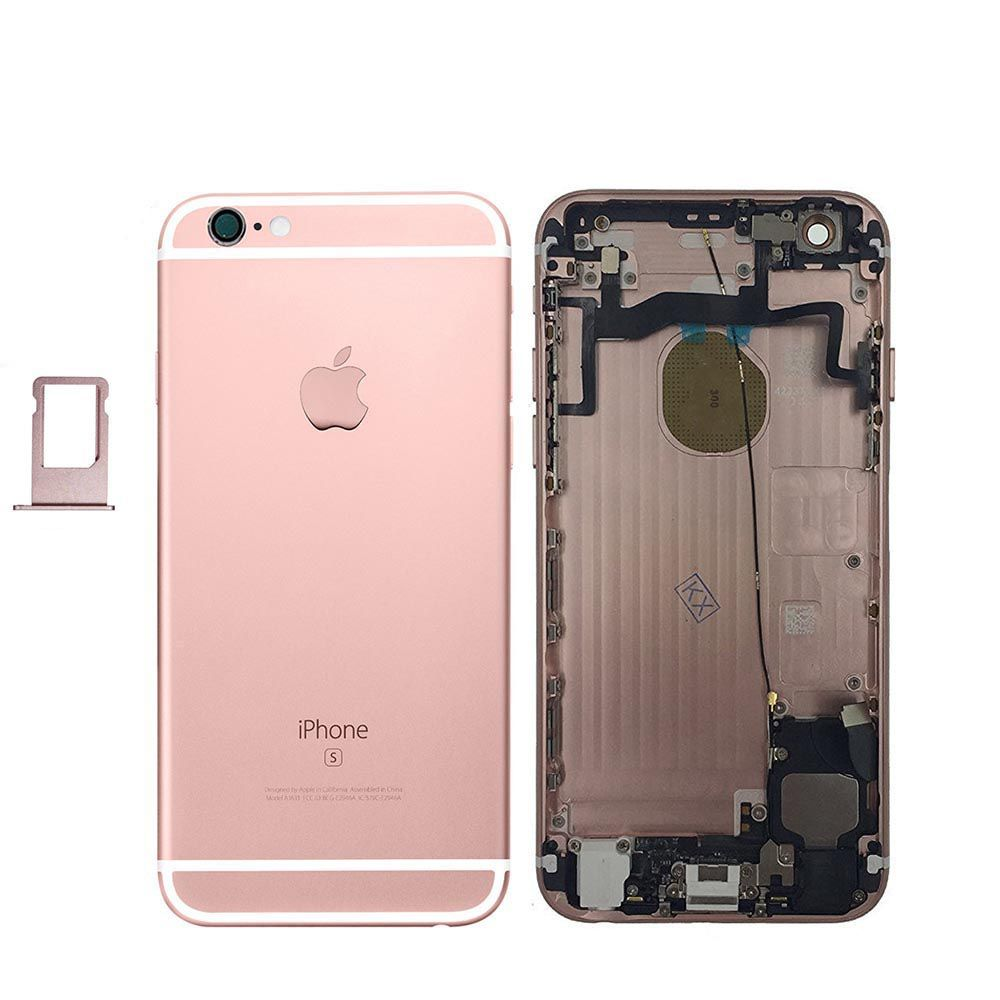 Rose Gold Back Housing Mid Frame Cables, Parts for iPhone 6S A1633 A1688 A1700 Pic0