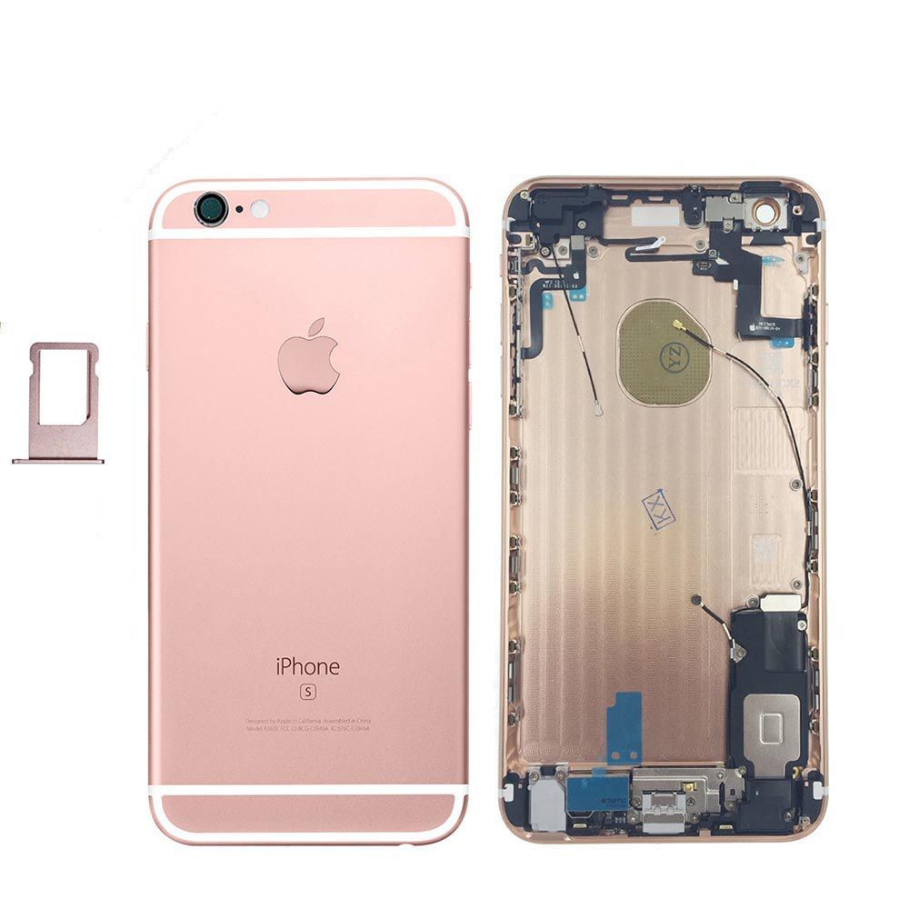 Rose Gold Back Housing Mid Frame Assembly with Parts iPhone 6S Plus A1634 A1687 Pic0