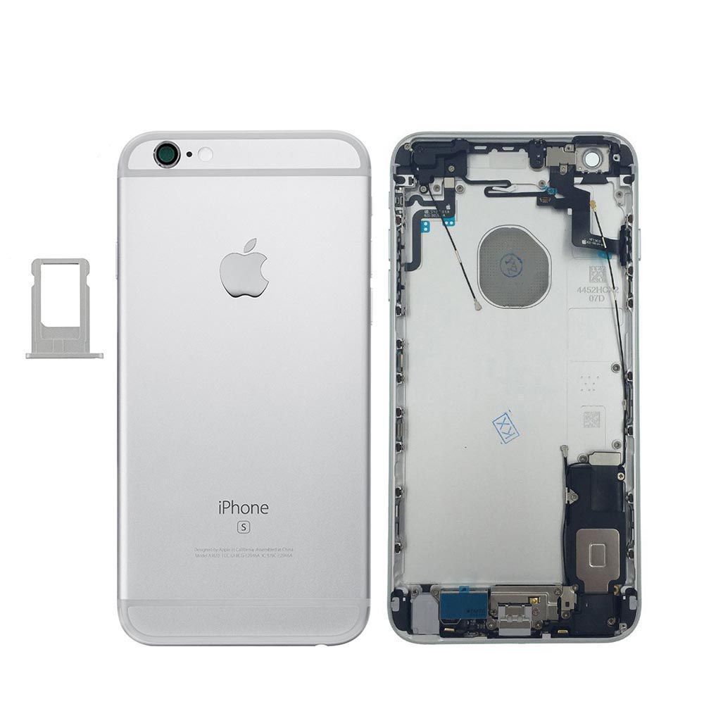 Silver Back Housing Mid Frame Assembly + Parts iPhone 6S Plus A1634 A1687 A1699 Pic0
