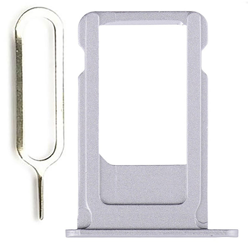 Silver SIM Card Tray Holder with Eject Tool for iPhone 6S A1633 A1688 A1700 Pic0