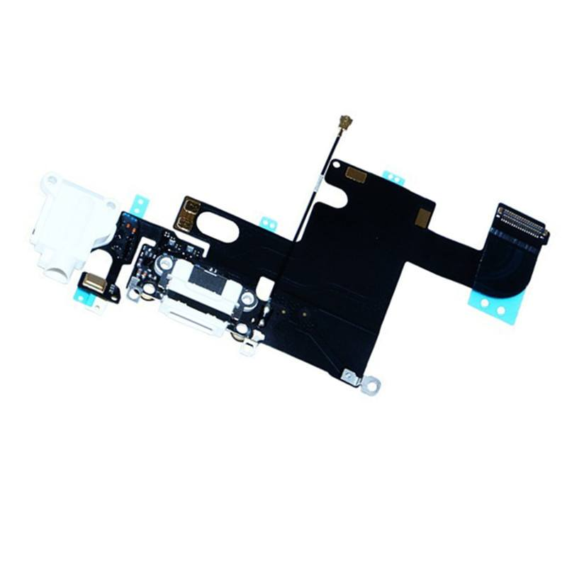 White Charging Port Headphone Audio Jack Flex for iPhone 6 A1549 A1586 A1589 Pic1
