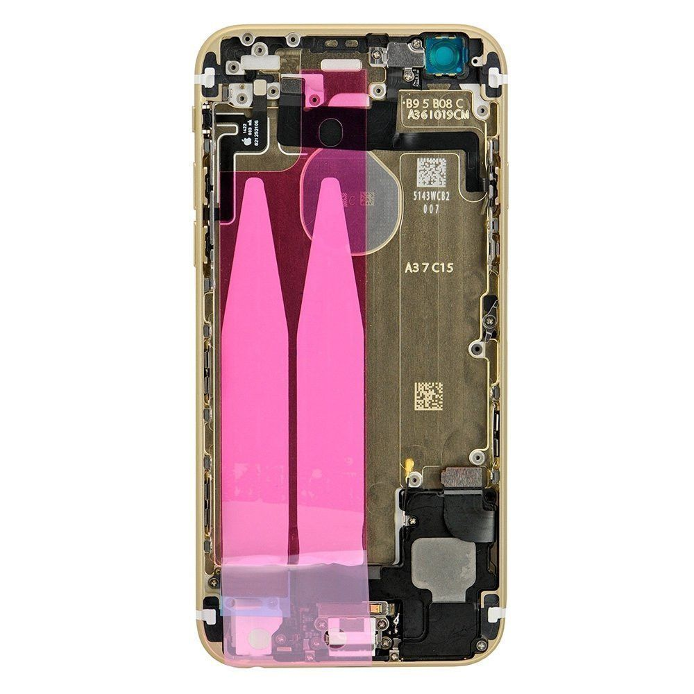 Gold Back Housing Mid Frame Assembly with Parts for iPhone 6 A1549 A1586 A1589 Pic2