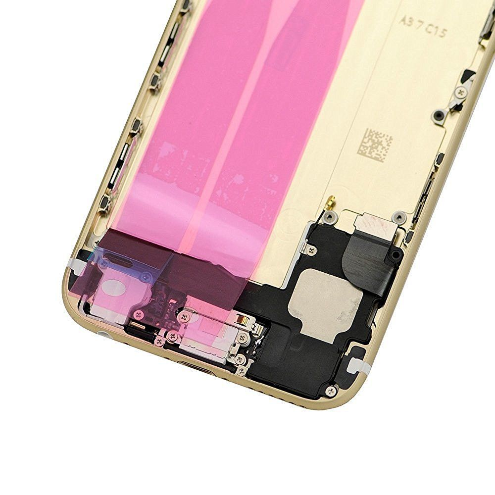 Gold Back Housing Mid Frame Assembly with Parts for iPhone 6 A1549 A1586 A1589 Pic3