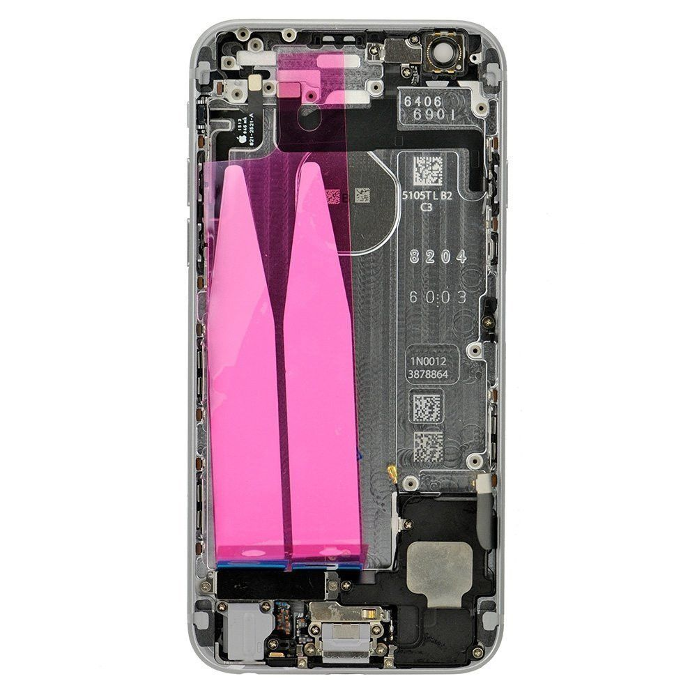 Gray Back Housing Mid Frame Assembly Replacement with Parts for iPhone 6 A1549 A1586 A1589 Pic2