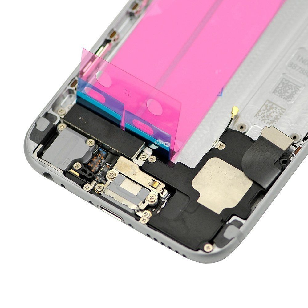 Gray Back Housing Mid Frame Assembly Replacement with Parts for iPhone 6 A1549 A1586 A1589 Pic3