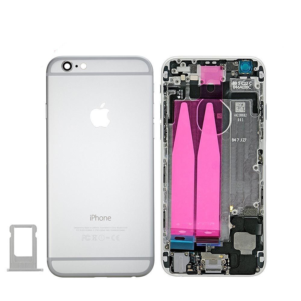 Silver Back Housing Mid Frame Assembly with Parts for iPhone 6 A1549 A1586 A1589 Pic0