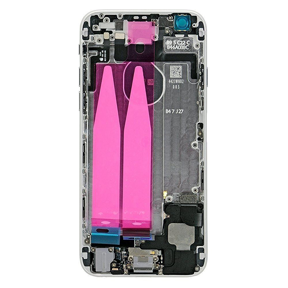 Silver Back Housing Mid Frame Assembly with Parts for iPhone 6 A1549 A1586 A1589 Pic2