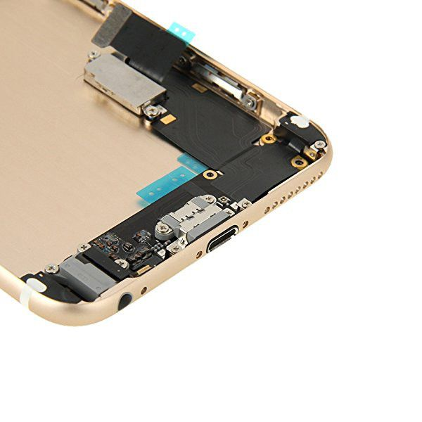 Gold Back Housing Mid Frame Assembly + Parts for iPhone 6 Plus A1522 A1524 A1593 Pic5