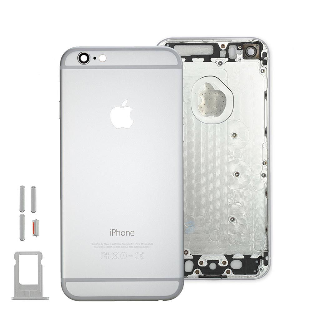 Silver Back Housing Mid Frame Assembly for iPhone 6 Plus A1522 A1524 A1593 Pic0