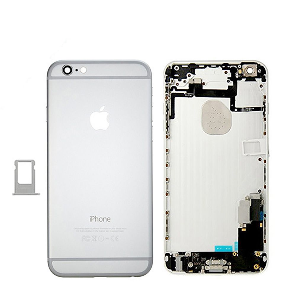 Silver Back Housing Mid Frame Assembly + Parts iPhone 6 Plus A1522 A1524 A1593 Pic0
