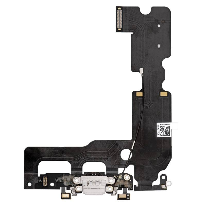 White Charging Dock Port Assembly Flex Cable for iPhone 7 Plus A1661 A1784 A1785 Pic0