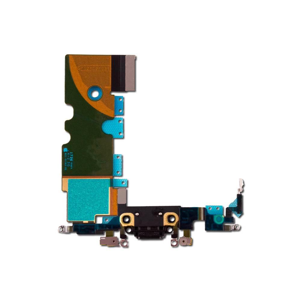 Black Charging Dock Port Assembly Flex Cable for iPhone 8 A1863 A1905 A1906 Pic0
