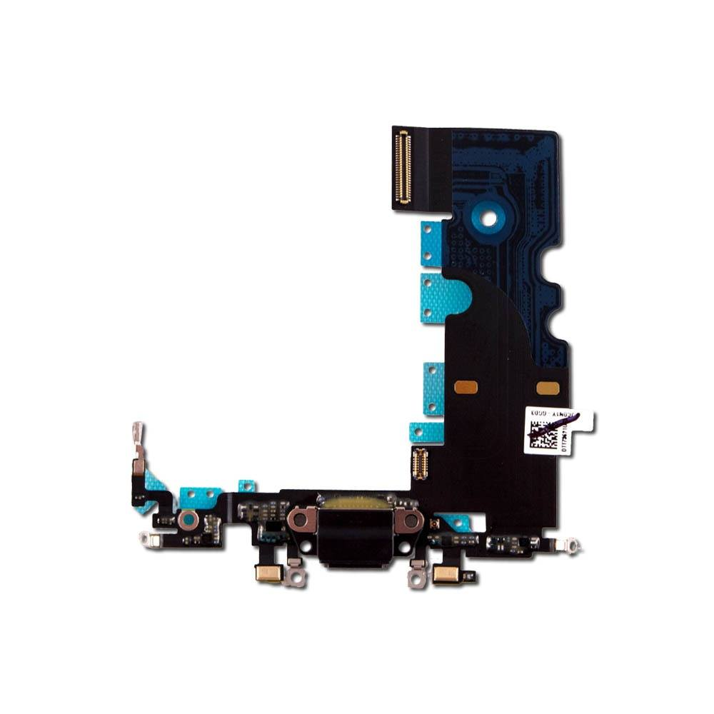 Black Charging Dock Port Assembly Flex Cable for iPhone 8 A1863 A1905 A1906 Pic1
