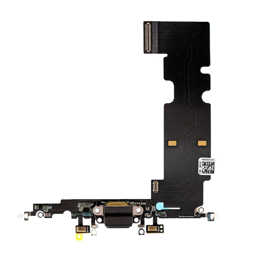 Black Charging Dock Port Assembly Flex Cable for iPhone 8 Plus A1864 A1897 A1898 Pic0