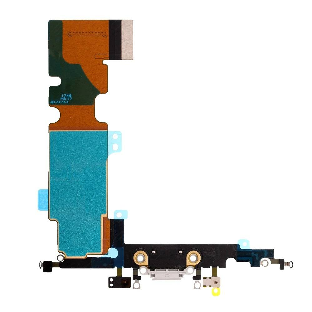 White Charging Dock Port Assembly Flex Cable for iPhone 8 Plus A1864 A1897 A1898 Pic1