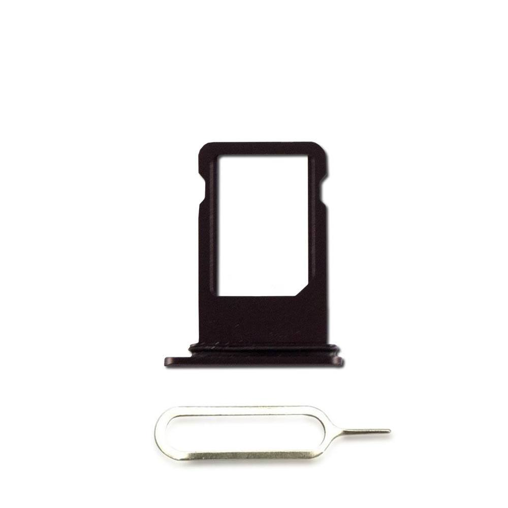 Black SIM Card Tray Holder with Eject Tool for iPhone 8 Plus A1864 A1897 A1898 Pic0