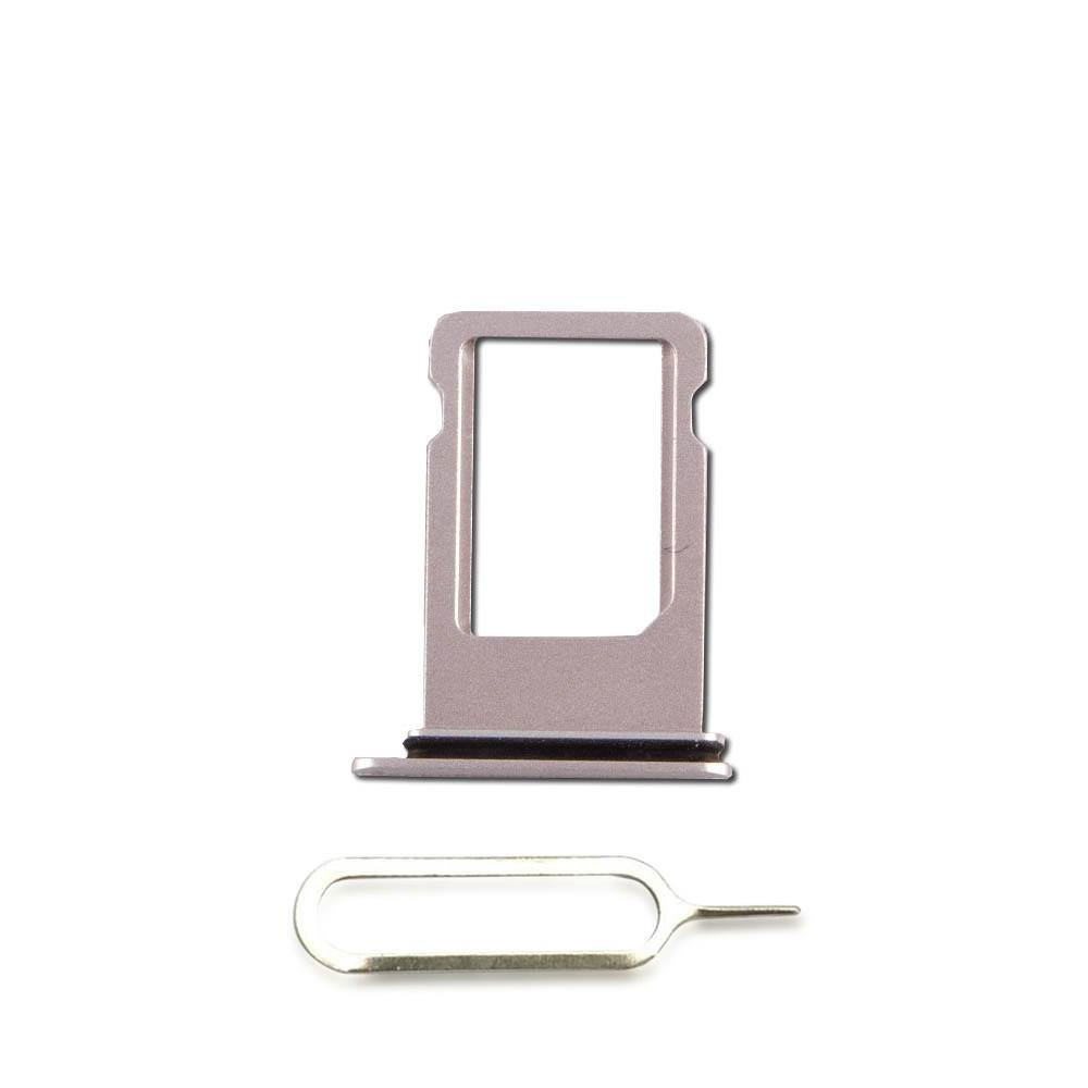 Silver SIM Card Tray Holder with Eject Tool for iPhone 8 A1863 A1905 A1906 Pic0