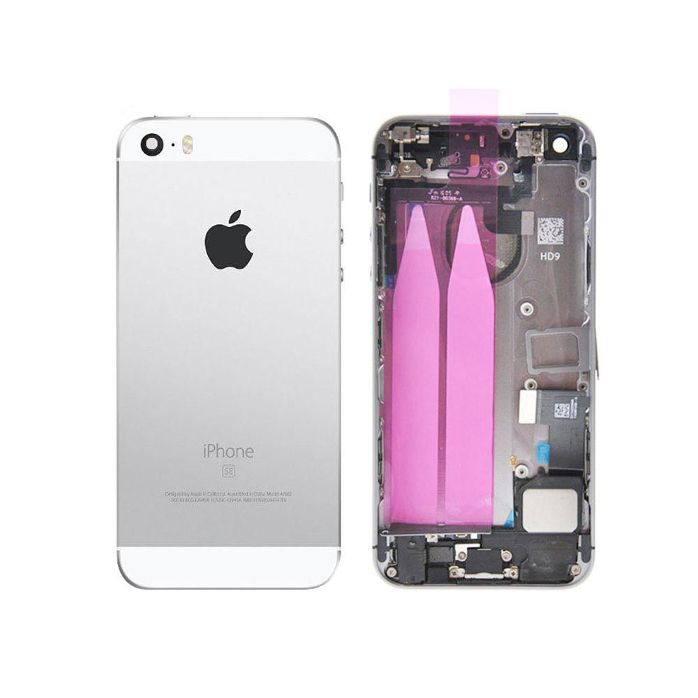 Silver Back Housing Mid Frame with Cables, Parts for iPhone SE A1662 A1723 A1724 Pic0