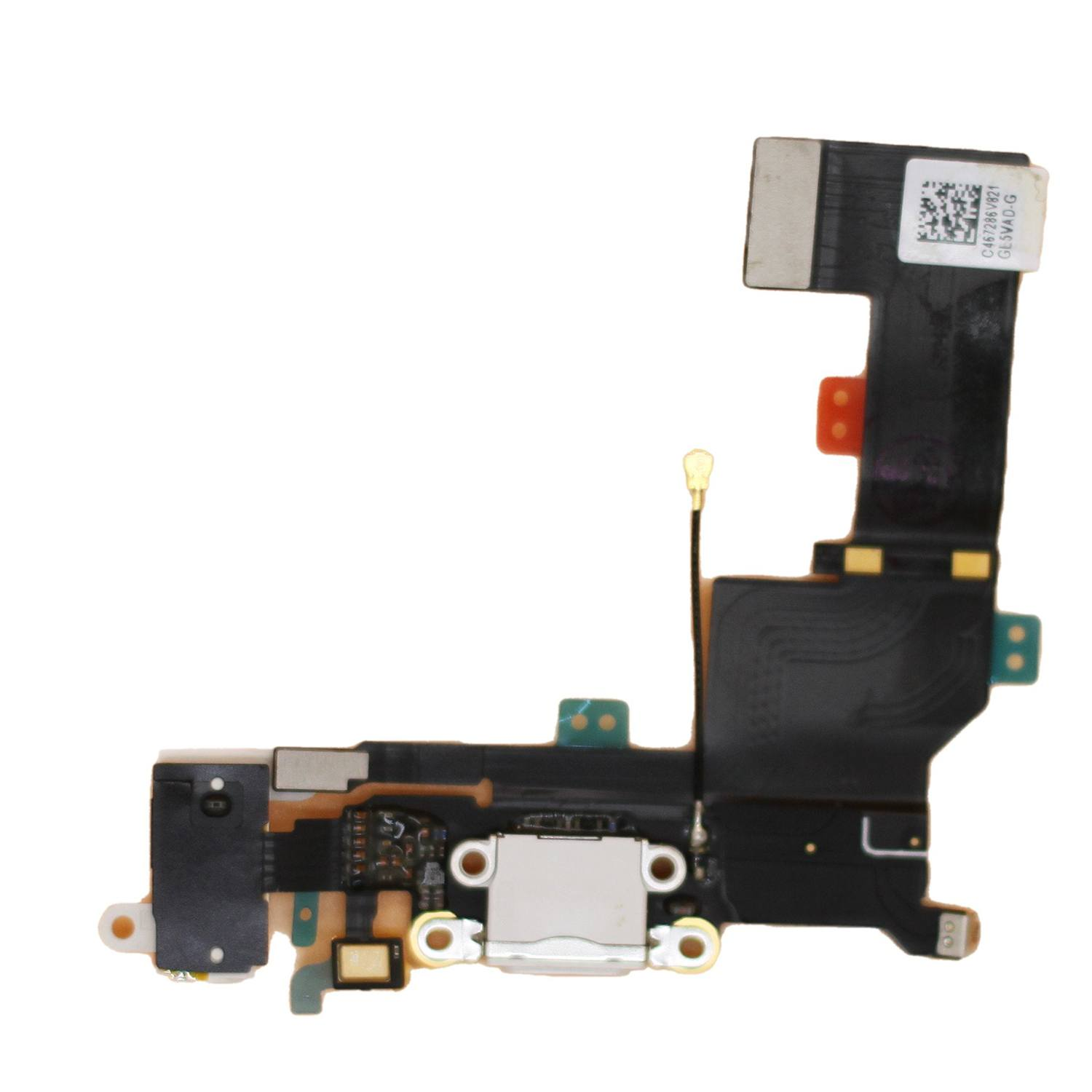 New White iPhone SE Charging Port + Microphone + Audio Jack Flex Cable Pic0