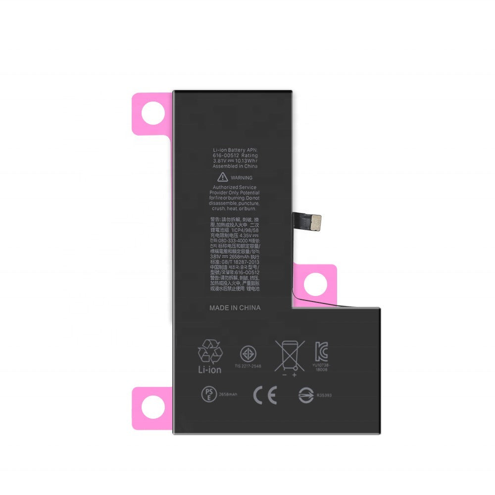 New 2658 mAh Battery with Adhesive for iPhone XS A1920 A2097 A2098 A2100 Pic0