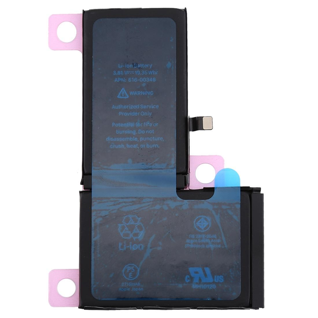 New 2716 mAh Replacement Battery with Adhesive for iPhone X A1865 A1901 A1902 Pic0
