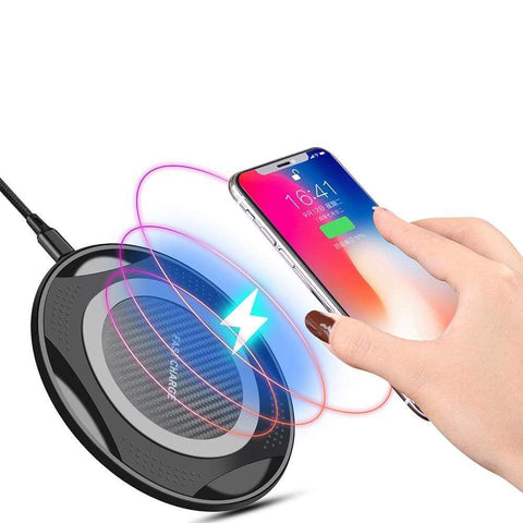 Image of 10W QI Fast Wireless Charger for iPhone XS Max XR X 8 Plus Samsung Note 9 S9 S8 - Wireless Chargers