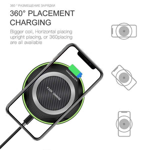 10W QI Fast Wireless Charger for iPhone XS Max XR X 8 Plus Samsung Note 9 S9 S8 - Wireless Chargers
