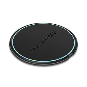 10W Qi Fast Wireless Charger For Samsung Galaxy S10 S9 S8 Plus Note 10 9 iPhone - Black - Wireless Chargers