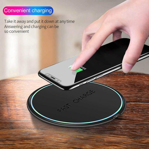 Image of 10W Qi Fast Wireless Charger For Samsung Galaxy S10 S9 S8 Plus Note 10 9 iPhone - Wireless Chargers