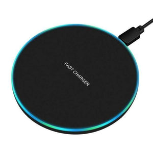 10W Qi Fast Wireless Charger For Samsung Galaxy S10 S9/S9+ S8 Note 9 for iPhone - 10W Black - Wireless Chargers