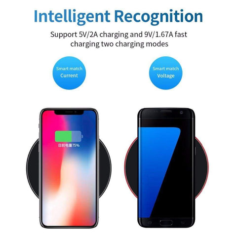 Image of 10W Qi Fast Wireless Charger For Samsung Galaxy S10 S9/S9+ S8 Note 9 for iPhone - Wireless Chargers