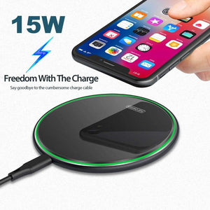 10W Qi Fast Wireless Charger For Samsung S10 S9 Note 10 iPhone 11 XS Max XR X 8 - Wireless Chargers