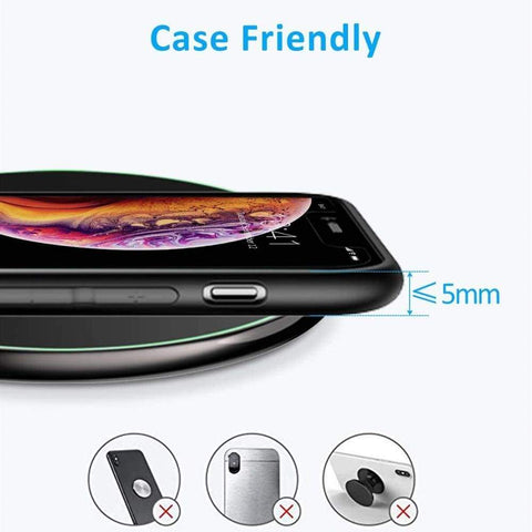 Image of 15W Fast Qi Wireless Charger For iPhone 11 X XR XS Samsung Note 10 9 S8 S9 S10 - Wireless Chargers