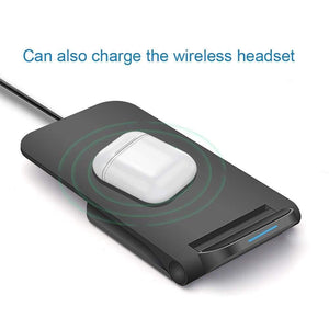 15W Qi Fast Wireless Charger for iPhone 11 Pro 8 X XR XS Max Airpods Samsung - Wireless Chargers