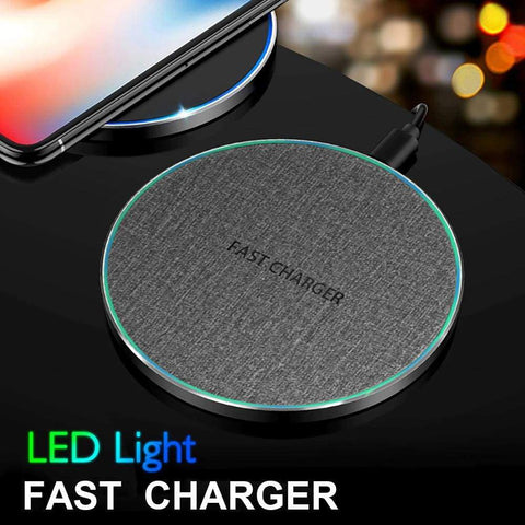 Image of 15W Qi Fast Wireless Charger iPhone 11 Pro XS Max X XR Samsung S10 S9 Note 10 9 - Wireless Chargers