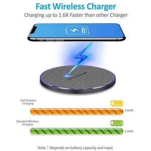 15W Qi Fast Wireless Charger iPhone 11 Pro XS Max X XR Samsung S10 S9 Note 10 9 - Wireless Chargers