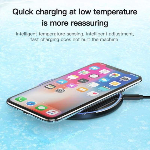 Image of 15W QI Quick Charging Wireless Charger USB C 10W QC 3.0 For iPhone Samsung - Wireless Chargers
