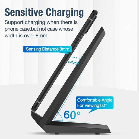 Image of 15W Qi Quick Wireless Charger QC 3.0 Fast Charging Stand For iPhone Samsung - Wireless Chargers