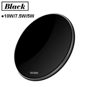 15W Quick Qi Wireless Charger Pad for Samsung Note 10 9 S10 S9 S8 iPhone Airpods - 10W Black Micro USB - Wireless Chargers