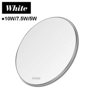 15W Quick Qi Wireless Charger Pad for Samsung Note 10 9 S10 S9 S8 iPhone Airpods - 10W White Micro USB - Wireless Chargers