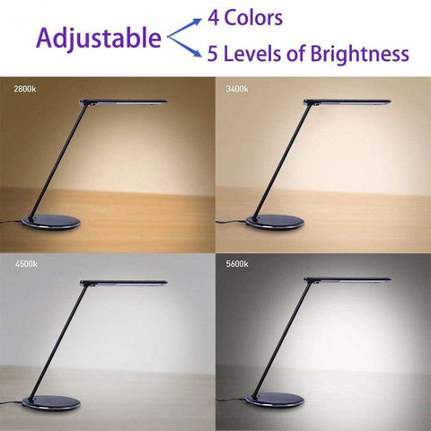 2 In 1 LED Desk Lamp Night Light Qi Fast Wireless Charger 10W for iPhone Samsung - Wireless Chargers