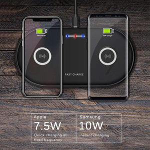 20W 2 in 1 Wireless Charger iPhone 11 8 X XS Max XR Samsung S9 S10 Note 10 9 8 - Wireless Chargers