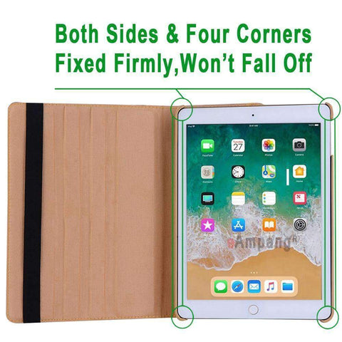 360 Degree Rotating Leather Smart Shell Cover Case for Apple iPad mini 1 2 3 with Stand Holder - Accessories