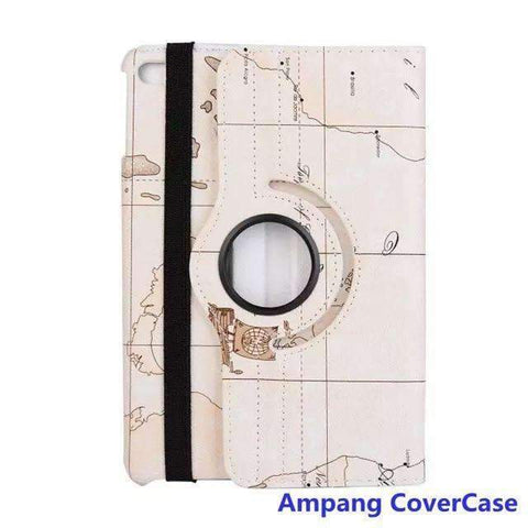 360 Degree Rotating Leather Smart Shell Cover Case for Apple iPad mini 1 2 3 with Stand Holder - white - Accessories