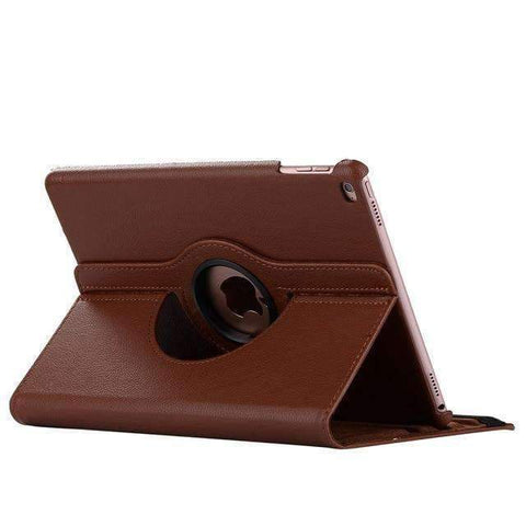 360 Degree Rotating Leather Smart Shell Cover Case for Apple iPad mini 4 iPad mini 5 A1538 A1550 - Brown - Accessories