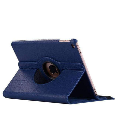360 Degree Rotating Leather Smart Shell Cover Case for Apple iPad mini 4 iPad mini 5 A1538 A1550 - Dark blue - Accessories